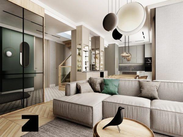 projektowanie luksusowych wnętrz - Lesinska