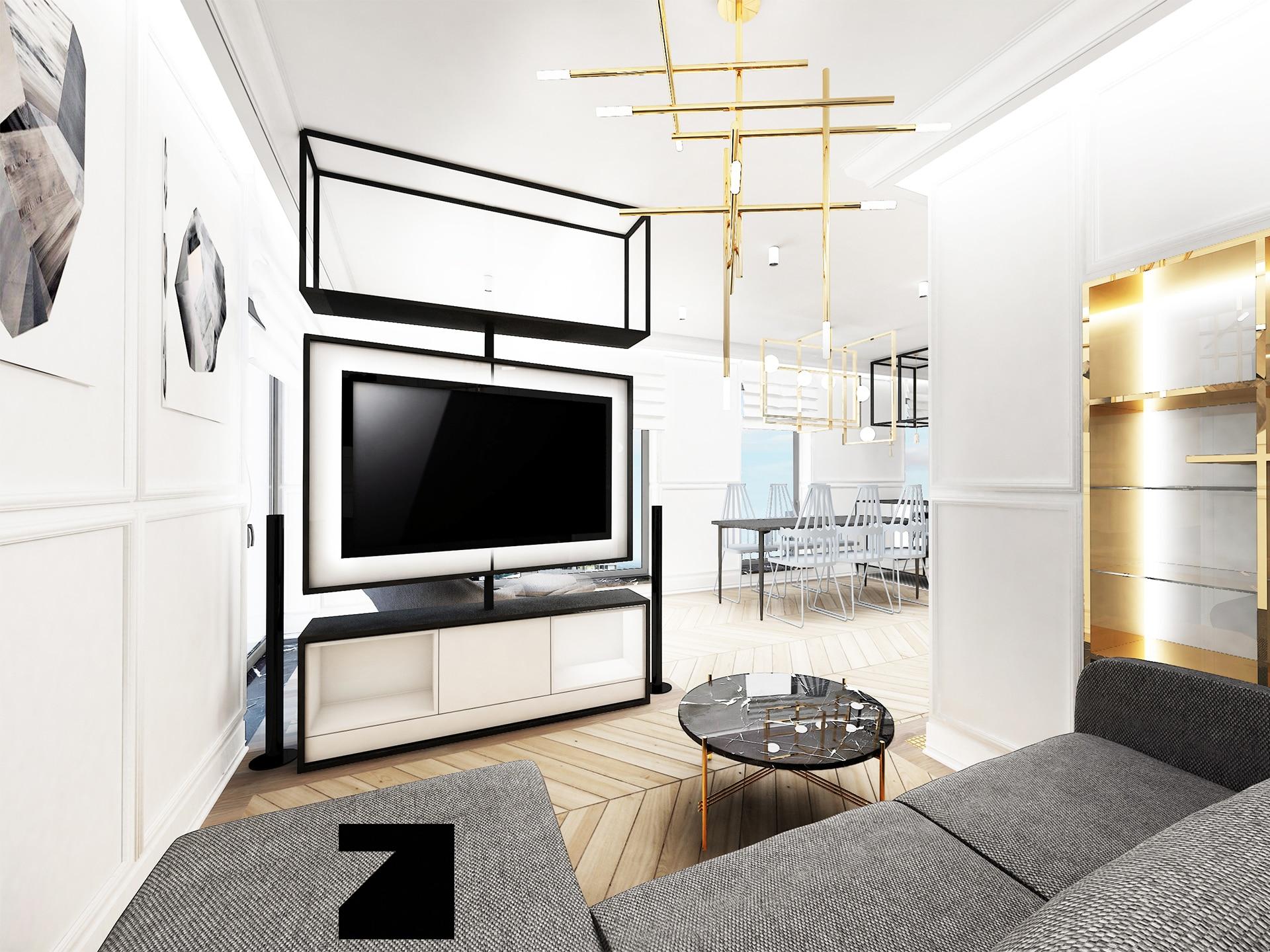 luksusowe wnętrze w apartamencie w Gdyni