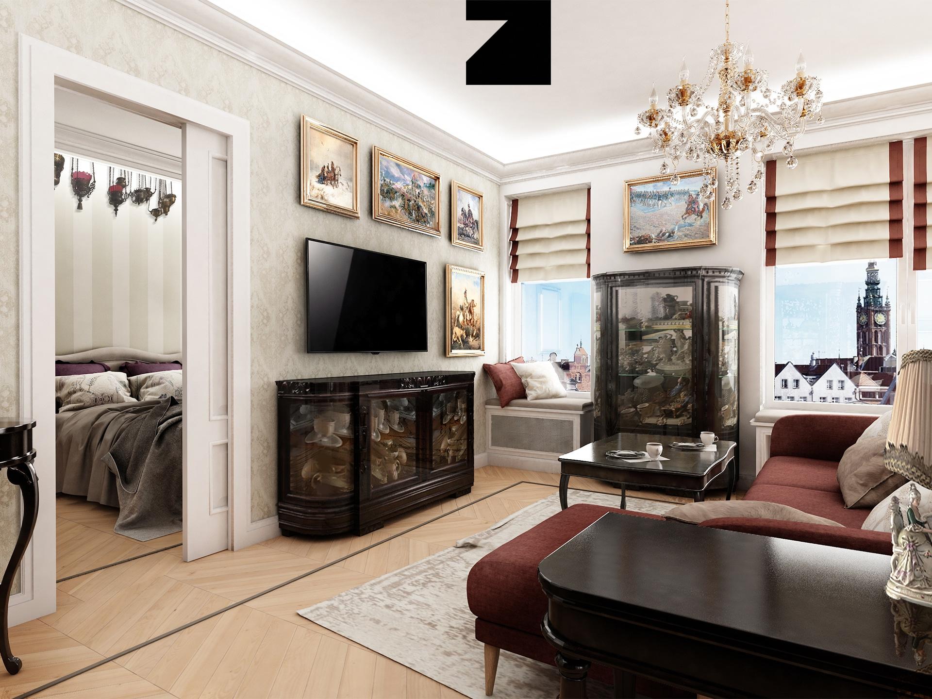 projekt luksusowego wnętrza