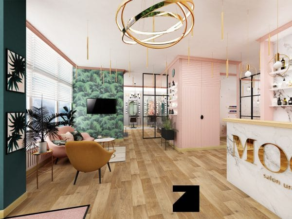 luksusowe wnętrze salonu mody