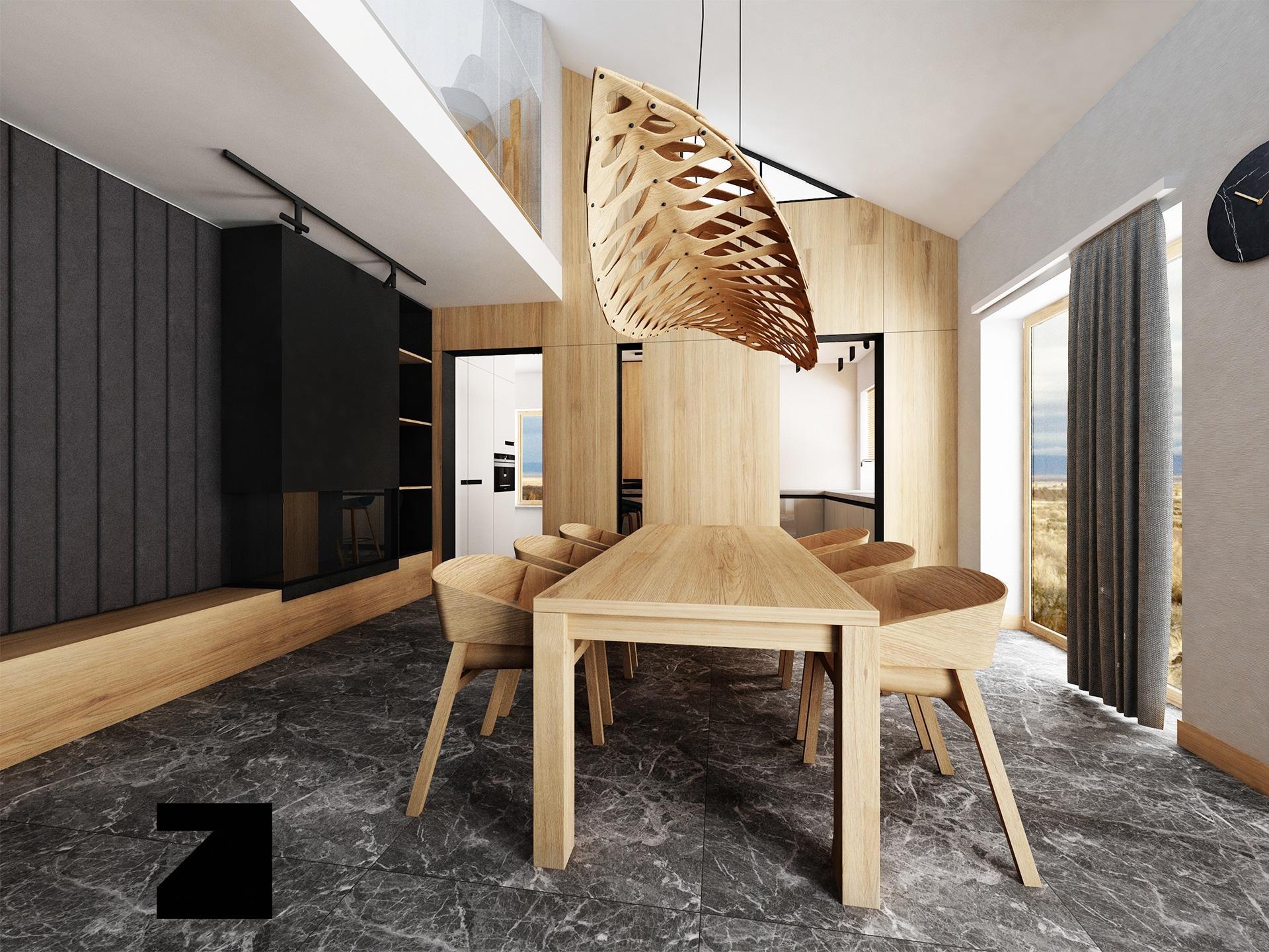projekt wnętrza - Lesinska