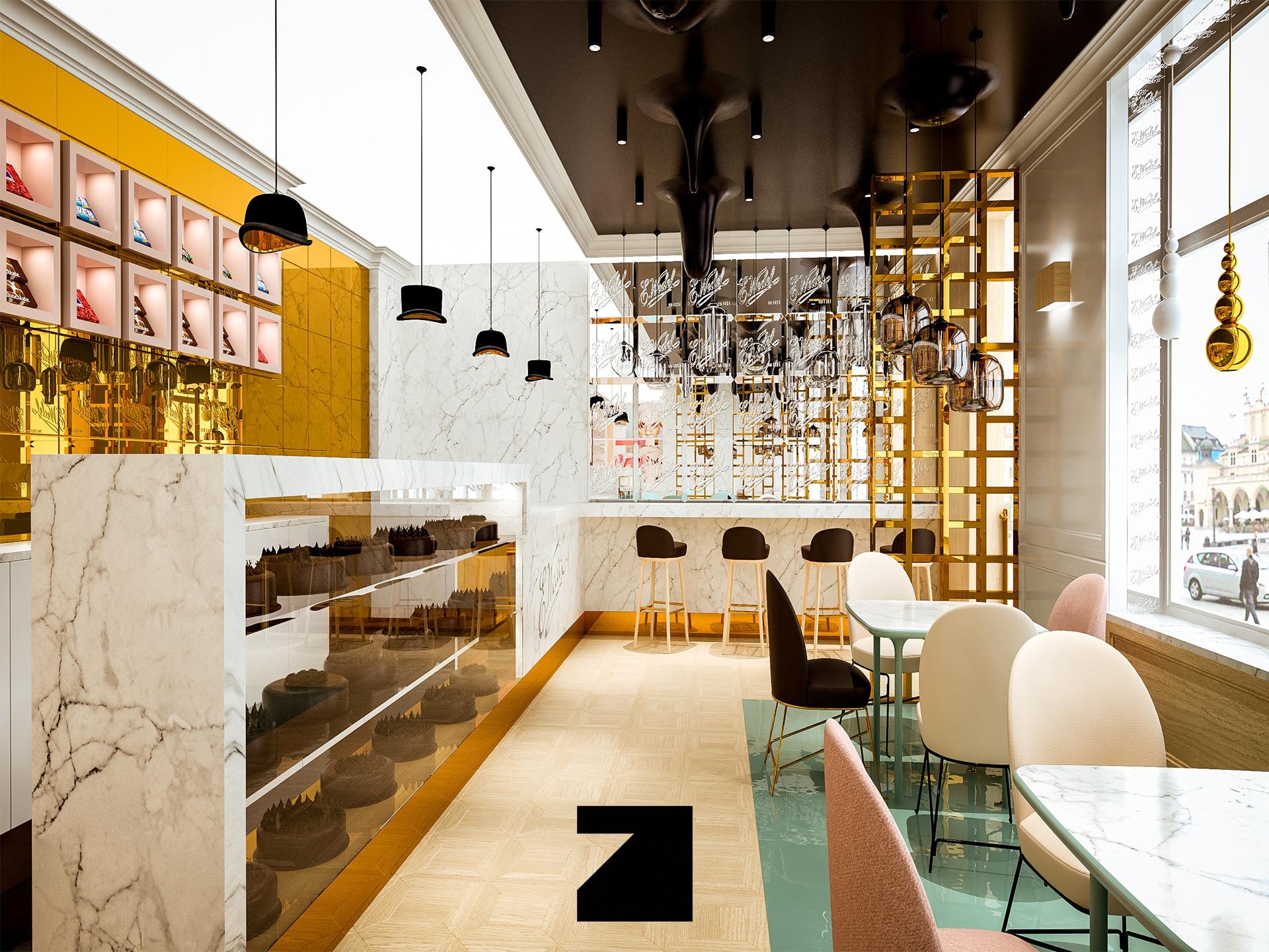 ekskluzywne wnętrze kawiarni