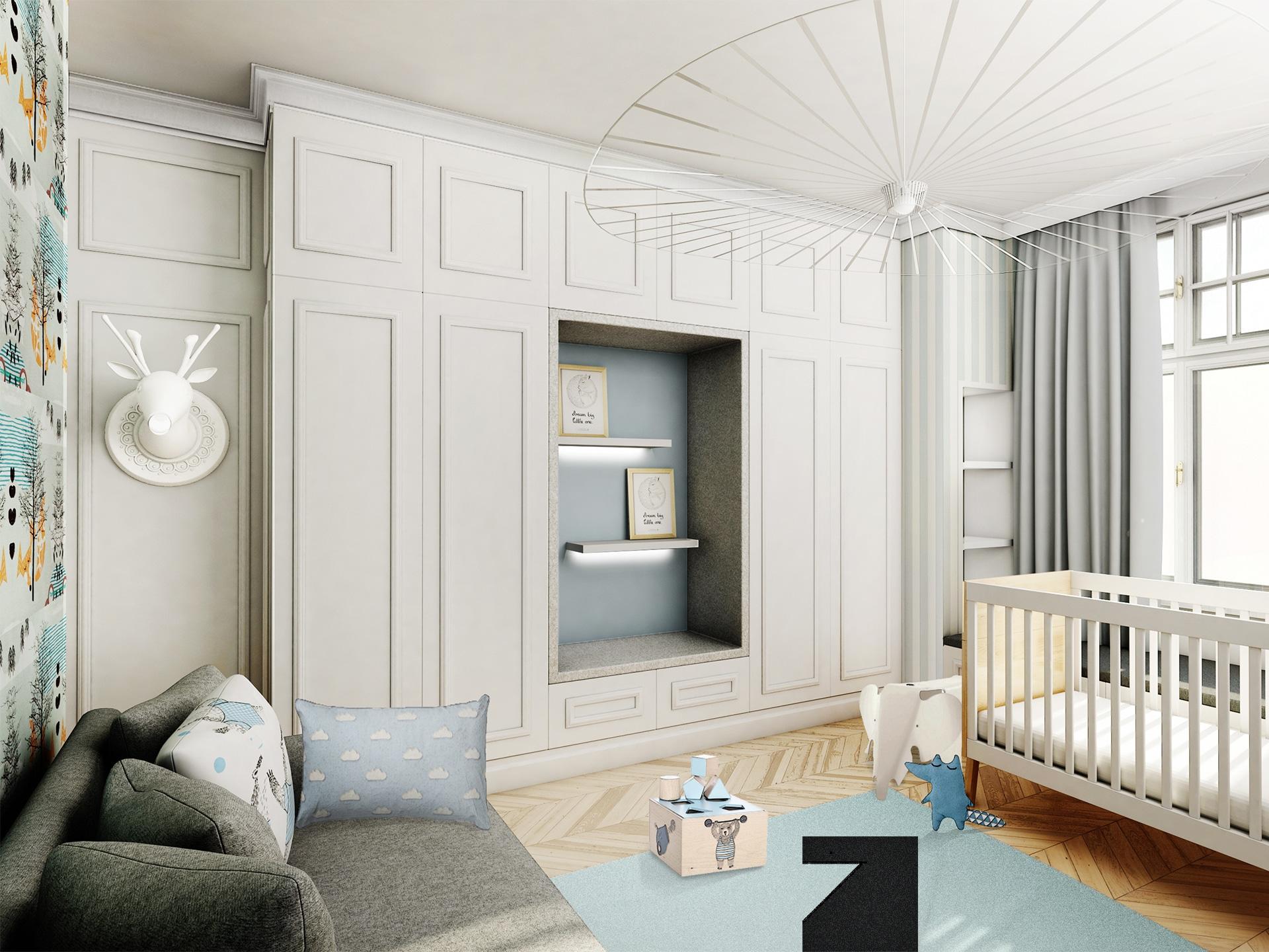 projekt apartamentu w stylu angielskim