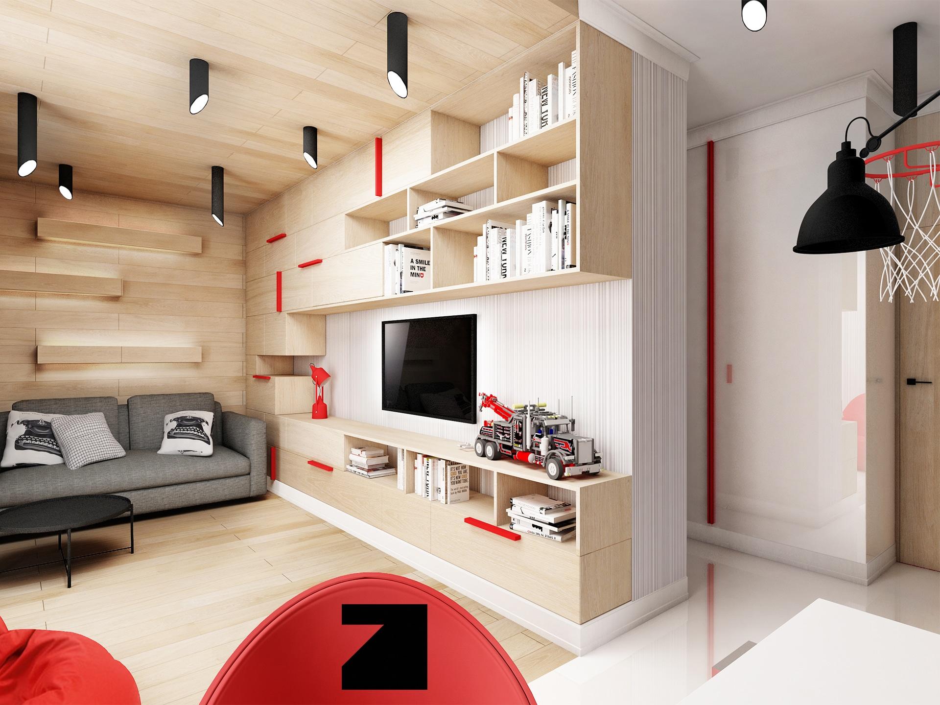 projekt pokoju dla dziecka Lesinska