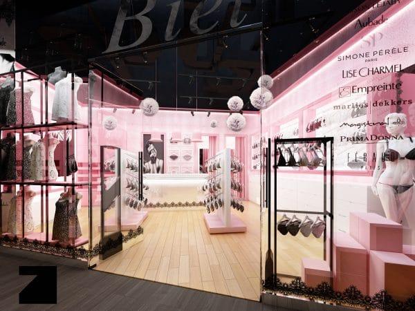 projekt sklepu z damską bielizną