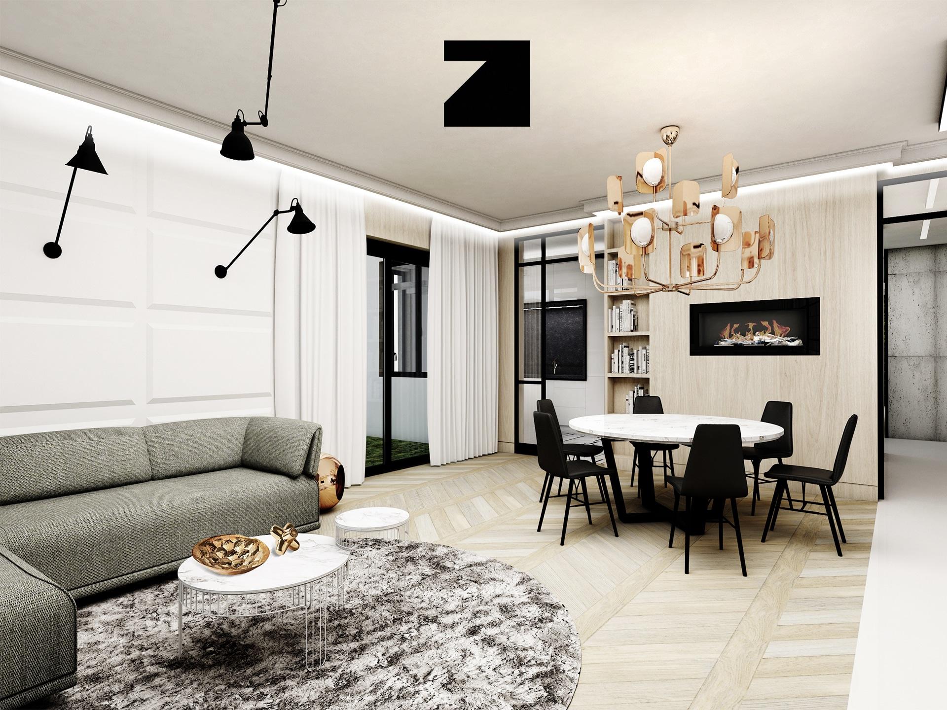 projekt luksusowych wnętrz - Lesinska