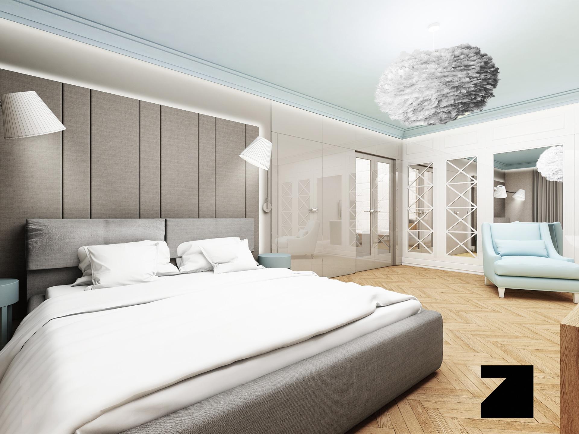 projekt luksusowej sypialni - Lesinska