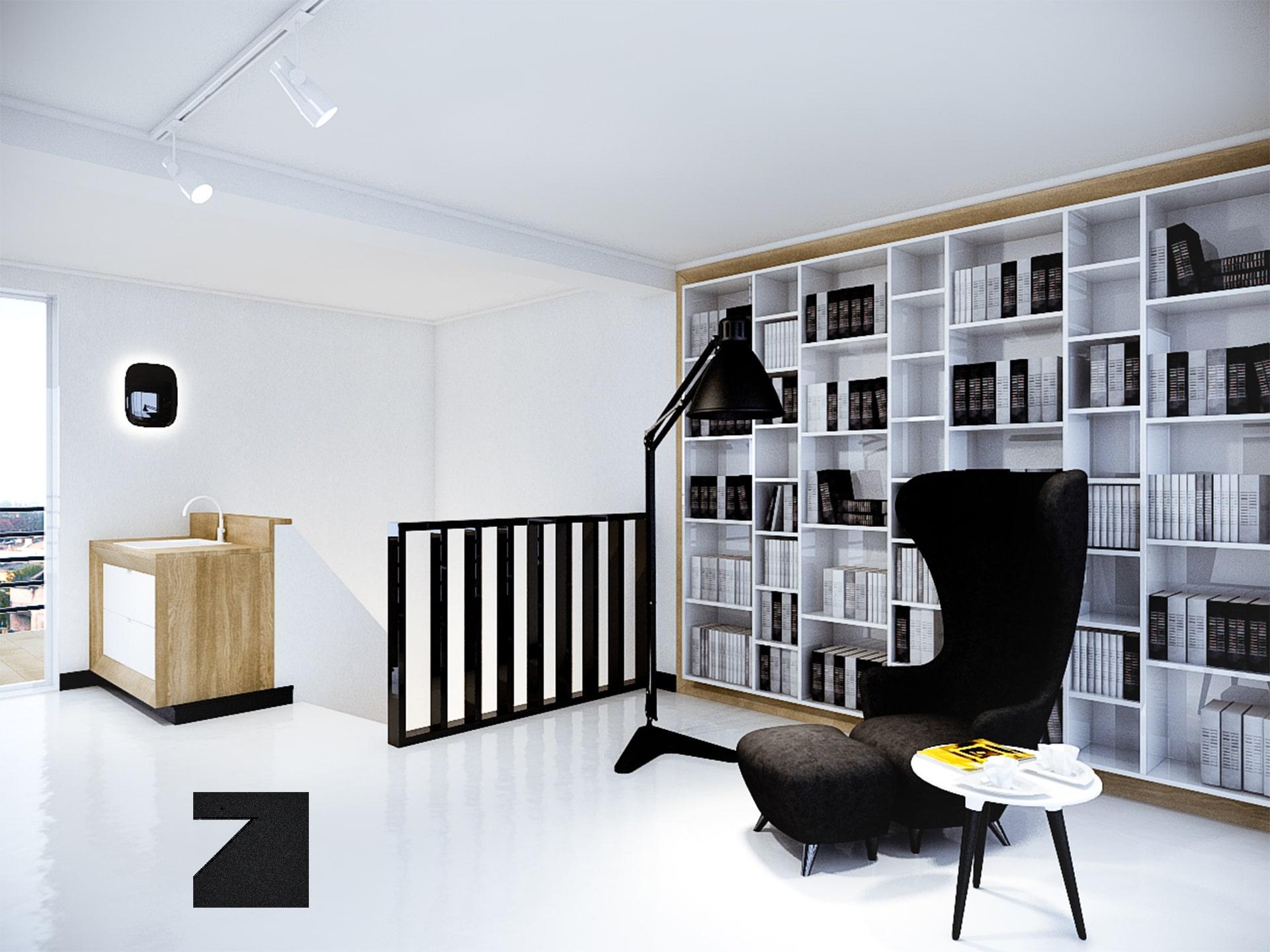 projekt modernistyczny salonu