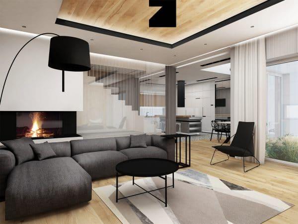 luksusowy salon - projekt Lesinska