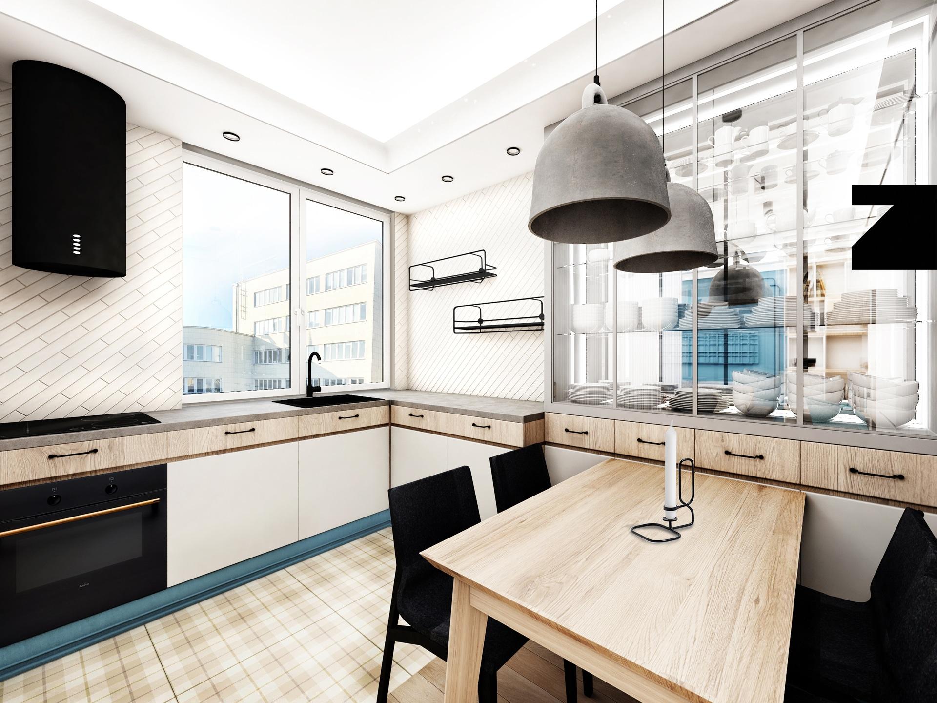 projekt luksusowej kuchni Lesinska