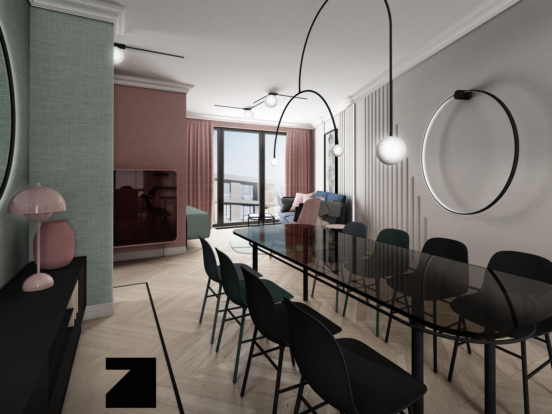 zaprojektowane wnętrze w Botanica Apartment Gdańsk