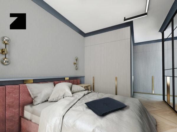 projekt ekskluzywnej sypialni Lesinska