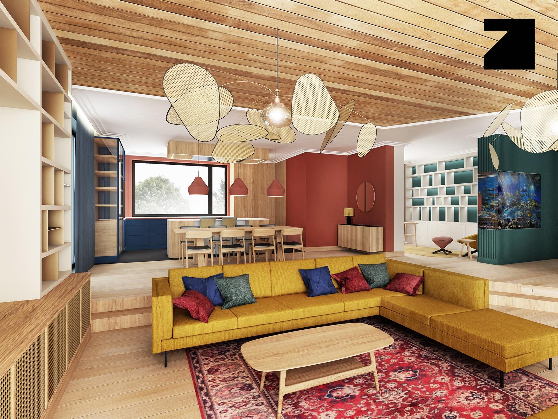 luksusowe wnętrze zaprojektowane przez Lesinska